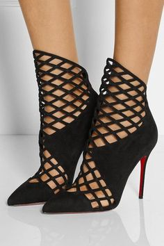 Christian Louboutin | Bottines en daim Mrs Bouglione 100 | NET-A-PORTER.COM