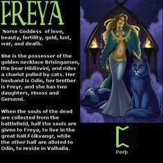 Freya - Norse Goddess Great explanation of her characteristics on this pin. Blessed Be, CazWytch⭐️❤️ Norse Pagan, Pagan Gods, Old Norse, Norse Mythology, Loki, Norse Goddess Of Love, Symbole Viking, Viking Runes, Viking Religion