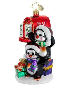 Image detail for -Christopher Radko Christopher Radko Postal Penguins Ornament