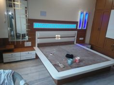 Trendy Bedroom Closet With Tv Small Spaces Ideas Bedroom Cupboard Designs, Wardrobe Design Bedroom, Room Design Bedroom, Modern Bedroom Design, Home Interior Design, Indian Bedroom Design, Bedroom Decor, Box Bed Design, Bed Back Design