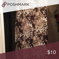 Floral skirt Beautiful brown and cream skirt size 14/16 Skirts