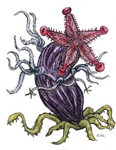 "My interpretation of an elder thing as described in ""At The mountains of madness"" by HP lovecraft. Mountains Of Madness, Call Of Cthulhu Rpg, Hp Lovecraft, Love Craft, Tentacle, Sci Fi Art, All Art, Fantasy Art, Horror"
