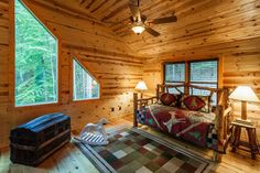 Ellijay cabin rental - Upstairs loft with daybed. Kids love this area. Games in closet.