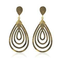 Filigree Teardrop Earrings Champagne Gold (190 INR) ❤ liked on Polyvore featuring jewelry, earrings, gold tear drop earrings, gold filigree jewelry, gold filigree earrings, champagne jewelry and tear drop earrings