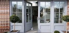 Image result for edwardian french doors Doors And Floors, Windows And Doors, Farmhouse Patio Doors, Entrance Doors, Entrance Ideas, Sliding French Doors, Garage Apartments, Industrial Farmhouse, Future House