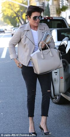 Stylish on Saturday: The momager maintained a cool ensemble early Saturday morning