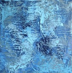 ASHES TO ASHES, The thought crystallized from non-existence, the matter takes on density and appears, again thought appears, and than emptiness, nothingness. @jaceksikora.com #art #contemporaryart #polishart #abstract #acrylic #blue #canvas #light #dark