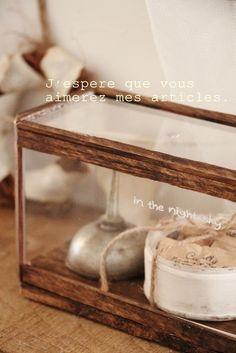 ●セリア&ダイソーグッズでガラスショーケース風*小さくて可愛いもの●|・:*:ナチュラルアンティーク雑貨&家具のお部屋・:*