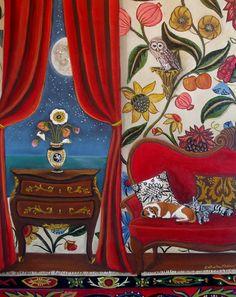 Still Life InteriorSleep Study In by CatherineNolinArt on Etsy, $595.00