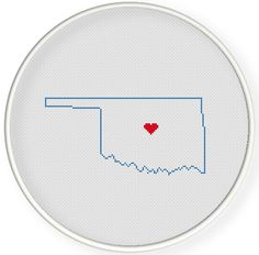 Instant download,Cross stitch pattern, Crossstitch PDF,wedding gift, pillow pattern,love oklahoma  state,USA map ,2 pattern in 1 PDF by danceneedle on Etsy