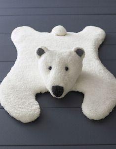Modèle tapis ours jersey Phildar