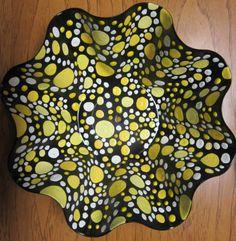 Painted Vinyl Record Bowl Recycled Art Recycled Vinyl  Ο ΧΡΗΣΤΗΣ XRISI PAPADAKI AΠΟΘΗΚΕΥΣΕ ΣΤΟ ΠΙΝΑΚΑ ΦΤΙΑΧΝΩ ΜΟΝΟΣ