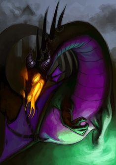 Maleficent Dragon Form by Deputee.deviantart.com on @deviantART
