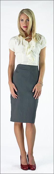 Woven Pencil Skirt [9201] - $36.99 : Mikarose Fashion, Reinventing Modest Fashion