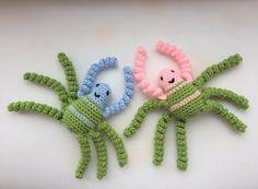 "0 Likes, 1 Comments - Raluca Drugan (@mygoldencrochet) on Instagram: ""Mr and Mrs #spider #handmade #crochetspider #babytoys #babyshowerideas #babyshower #toys"""