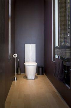 luxus badezimmer deko dunkel damentoilette rustikal einrichtung, Hause ideen