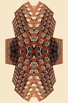 """Kaleidoscope Buildings: Memento pt.2 series"" | [Red] by Christian Ruhm"