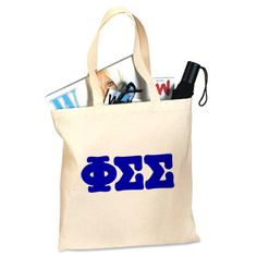 Phi Sigma Sigma Sorority Printed Budget Tote Bag #PhiSig #PhiSigmaSigma #Greek #Sorority #PrintedTote #Bag