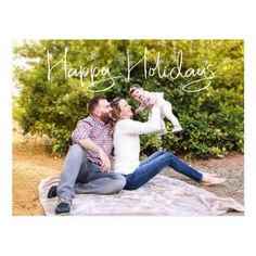 Shop Family Photo Christmas Happy Holidays Snowflake Postcard created by ColorFlowCreations. Personalize it with photos & text or purchase as is!