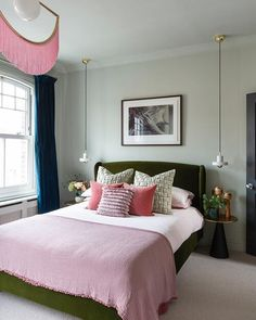 Easy Home Decor Check out how I styled our calming pink and green bedroom Bedroom Wall Designs, Bedroom Wall Colors, Modern Bedroom Decor, Bedroom Green, Bedroom Ideas, Dulux Bedroom Colours, Preppy Bedroom, Boys Bedroom Paint, Boys Bedroom Furniture