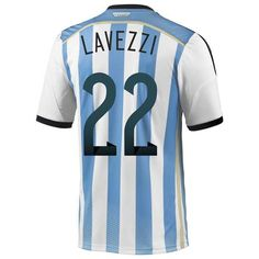 Authentic Argentina (22 Lavezzi) 2014 World Cup home soccer jersey Adidas from china 1874 - http://www.snstar.com/argentina-c-45_47