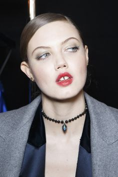 Lindsey Wixson Backstage at Alexandre Vauthier Couture Spring 2017 - Beautiful Backstage Couture Photos From Paris - Photos