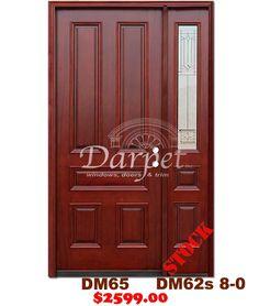 DM65s/DM31s 5 Panel Exterior Wood Mahogany Door 8-0 | Darpet Interior Doors