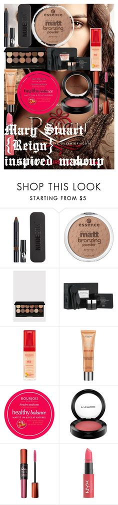 """""""Mary Stuart {Reign} inspired makeup"""" by oroartye-1 on Polyvore featuring beauty, Kane, Nudestix, Forever 21, Tony Moly, Bourjois, L'Oréal Paris, MAC Cosmetics, Maybelline and NYX"""