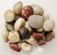 Mixed LOT RIVER ROCKS Smooth Polished Tumbled by NaturesFindings