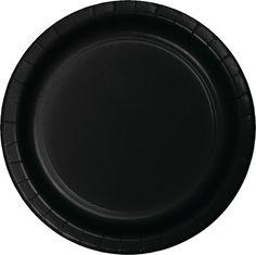 Black Velvet 6.75 Inch Paper Luncheon Plates (240/case)