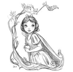 Disney Art Sketches Princesses Snow White Ideas For 2019 Disney Princess Drawings, Disney Sketches, Disney Drawings, Drawing Disney, Disney Princess Snow White, Snow White Disney, Disney Amor, Cute Disney, Disney Disney