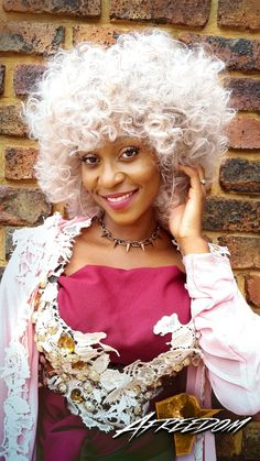Hair by Afreedom Fashions. White Hair, Pink White, African Hair, Afro, Grey, Women, Style, Fashion, Gray