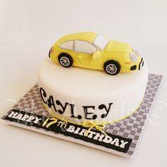 Yellow Porsche Cake