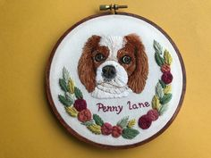 Personalized Custom Pet Portrait, Hand Embroidered Hoop Art, Home Decor, Embroidered, Stained Hoop, Dog, Cat, Hoffelt and Hooper Co by HoffeltAndHooperCo on Etsy