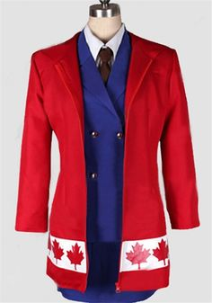 Vicwin-One Axis Powers Hetalia Canada Gender Conversion Outfits Costume >>> Continue to the product at the image link.