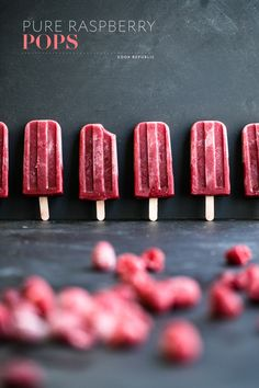 WOW! It is HOT out! Which is the best excuse to make some DELISH homemade Ice #pops! Cool down guilt-free!#barmethod Pure Raspberry Pops