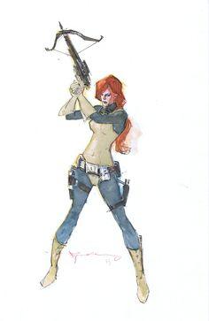 Scarlett by Bill Sienkiewicz.