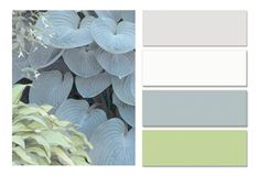 My bedroom color palette: gray, blue, green and white.