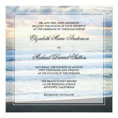 Sunset Wedding Invitations Beach Sunset Wedding Invitations