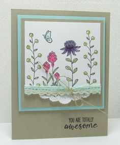 Easy Flowering Fields card: Song of My Heart Stampers
