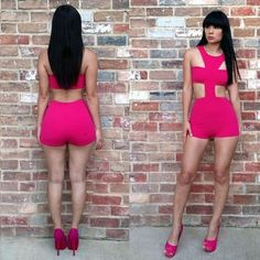Sexy Women 2 Color Hollow Sleeveless Top Clubwear Evening Siamese Jumpsuit Siamese Pants Dress