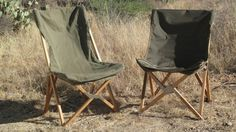 The legendary South African camp chair, left. Its offspring, right.About 20…