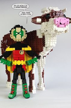 LEGO Robin and Bat-Cow - Friday Night Fights