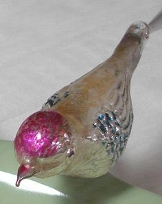 Vintage Mercury Glass Bird