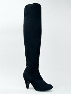 """Qupid METHOD-01 Stretchy Over the Knee Thigh High Heel Sexy Boot ZOOSHOO -      Synthetic upper, synthetic soleHeel measures approx. 3.25"""" w/ 0.25"""" platform, 24"""" shaft, 16"""" circumferenceNon-skid sole and cushioned footbed.  Alluring, classy and myste"""