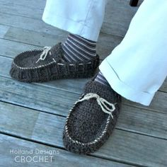 Awesome Mens Moccasins Crochet Pattern PDF - Holland Designs Crochet
