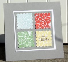 Square Thank You Card great for friends, teachers, co-workers or anyone you need to express thanks too!