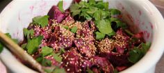 Beetroot salad with toasted seeds