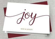 """Spread holiday cheer with these simple, elegant greeting cards. Set includes 25 cards and matching envelopes, available in A7 (7"""" x 5"""") or A2"""