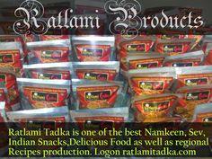 Ratlami Tadka is one of the best Namkeen, Sev, Indian Snacks,Delicious Food as well as regional Recipes production. Logon ratlamitadka.com #sev